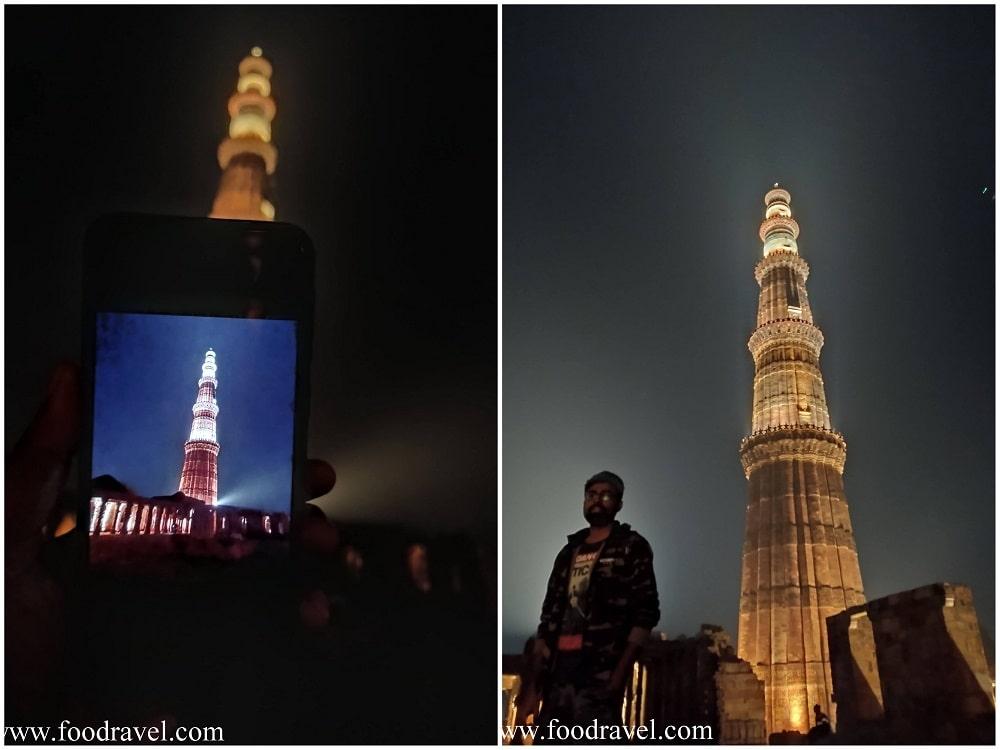 A Romantic Walk at Qutub Minar at Night - FoodRavel ...